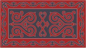 Chechen traditionell prydnad också vektor för coreldrawillustration vektor illustrationer