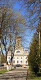 CHECHERSK,白俄罗斯- 2017年5月3日:18世纪的木市政厅 图库摄影