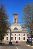 CHECHERSK,白俄罗斯- 2017年5月3日:18世纪的木市政厅 免版税库存图片