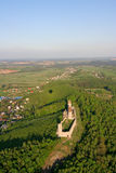 Checiny castle. Bird eye view of Checiny castle Stock Image
