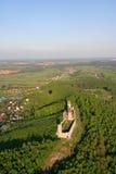 Checiny castle. Bird eye view of Checiny castle stock image