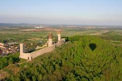 Checiny castle. Bird eye view of Checiny castle royalty free stock photos