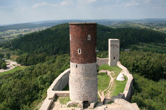 Checiny castle 3. Old, medieval castle in Checiny. View from the tower. Poland Stock Photo