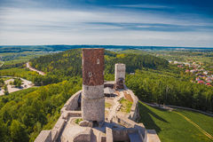 Checiny castle, Poland Royalty Free Stock Image