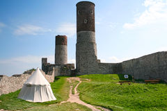 Checiny castle. Three towers. Old, medieval castle in Checiny. Three towers. Poland Stock Image