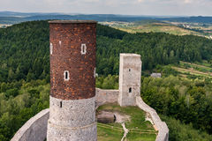 Checiny medeltida slott Fotografering för Bildbyråer