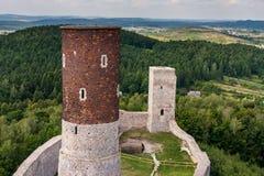 Checiny mittelalterliches Schloss Stockbild