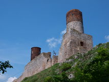 Checiny Schloss, Polen Lizenzfreie Stockbilder