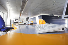Check in. Desk at the airport Royalty Free Stock Image