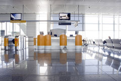 Check in. Desk at the airport Royalty Free Stock Photo