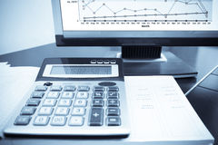 Check the accounting data Royalty Free Stock Images