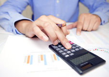 Check accounts, accountants, businessmen Stock Photography
