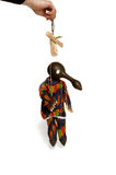Check in Africa handmade puppet. Head is a pumpkin stock photography