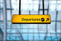 Check in, Airport Departure & Arrival information board sign. At Heathrow London Stock Images