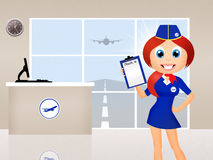 Check in in airport Royalty Free Stock Photos