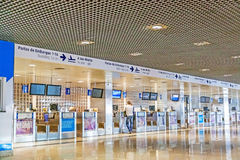 Check-in at airport Madeira Stock Image