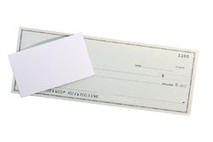 Check And Business A Card Stock Image