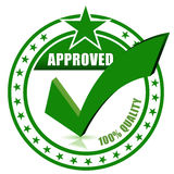 Check approved stamp. On white for design vector illustration