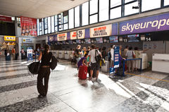 Check-in Area at the Vienna International Airport Stock Photography