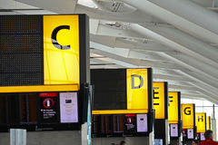 Check in areas at Heathrow Airport, T5, London Stock Images
