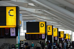 Check in areas at Heathrow Airport, T5, London Royalty Free Stock Image