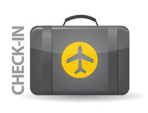 Check-in bag illustration design Stock Photos