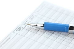 Check balance sheet Royalty Free Stock Images