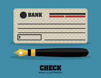 Check bank design Stock Images