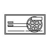 Check bank isolated icon Stock Photos
