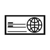 Check bank isolated icon Royalty Free Stock Photo