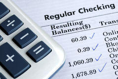 Check the bank statement Royalty Free Stock Image