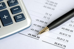 Check the bank statement stock image