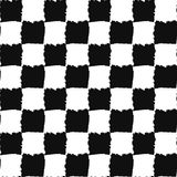 Check Black and White Seamless Pattern Stock Photo