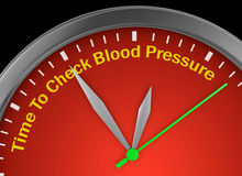 Check blood pressure Royalty Free Stock Photography