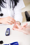 Check the blood-sugar level Stock Image