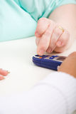 Check the blood-sugar level Stock Photos