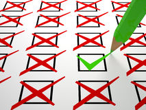 Check box background Royalty Free Stock Image
