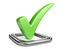 Check box with green check mark Stock Photography