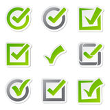 Check box icons of vote mark sign choice yes symbol and correct design right agreement voting form button question Royalty Free Stock Photo