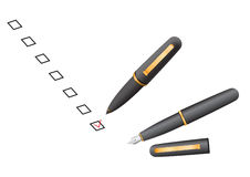 Check box pen Stock Photo