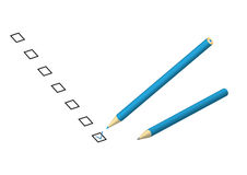 Check box pencil Royalty Free Stock Image