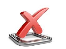 Check box with red cros check mark Royalty Free Stock Photos