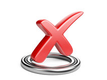 Check box with red cros check mark Royalty Free Stock Photo