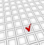 Check boxes and check mark Royalty Free Stock Image
