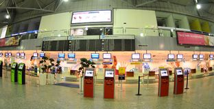 Check-in in Budapest aiport Ferihegy Royalty Free Stock Image