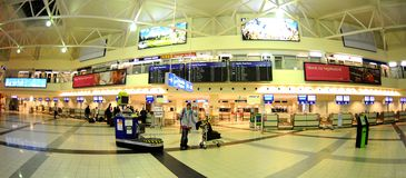 Check-in in Budapest aiport Ferihegy Stock Photography