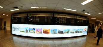 Check-in in Budapest aiport Ferihegy Royalty Free Stock Photography