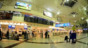 Check-in in Budapest aiport Ferihegy Stock Image