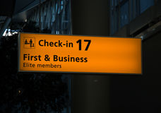 Check in for Business Travellers Royalty Free Stock Photo