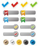 Check button kit Royalty Free Stock Photography
